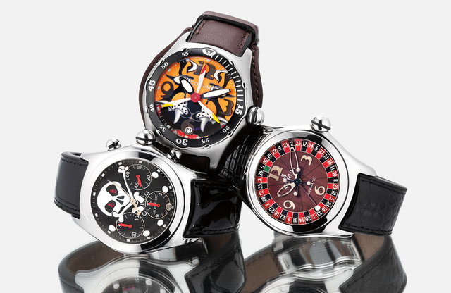 "Corum, 'A lot of three limited edition stainless steel ""bubble"" watches each with warranty, certificate and presentation box', The first circa 2002, the second circa 2003, and third circa 2004, Phillips"