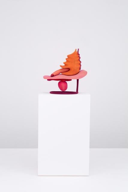 Matthew Ronay, 'The Elongated and Panting', 2019, Sculpture, Basswood, dye, gouache, flocking, plastic, steel, Casey Kaplan