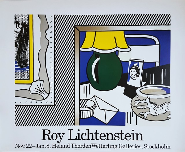 Roy Lichtenstein, 'Two Paintings: Green Lamp Poster', 1986, Posters, Offset-Lithograph, Exhibition Poster, Graves International Art