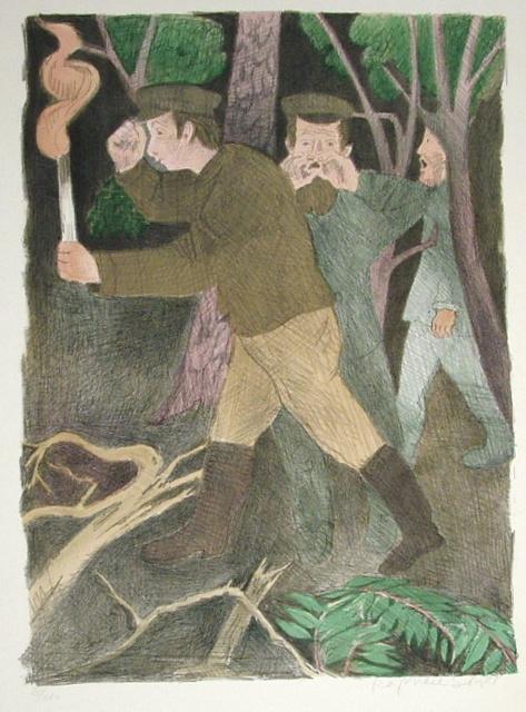 Raphael Soyer, 'The Search Party', ca. 1960, Print, Lithograph, Harris Schrank Fine Prints