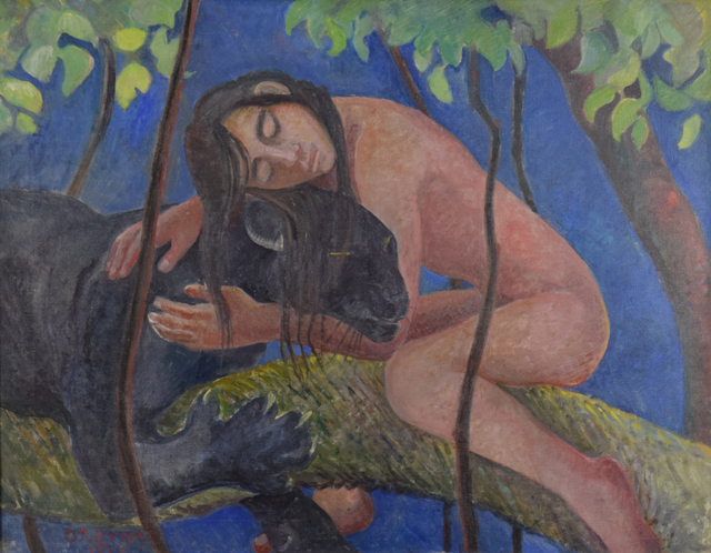 , 'Mowgli and Bagheera,' 1954, Russell Collection