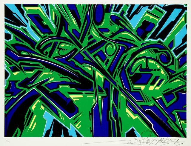 Saber, 'Saber One', 2009, Print, Silkscreen in colors on cotton archival paper, Heritage Auctions