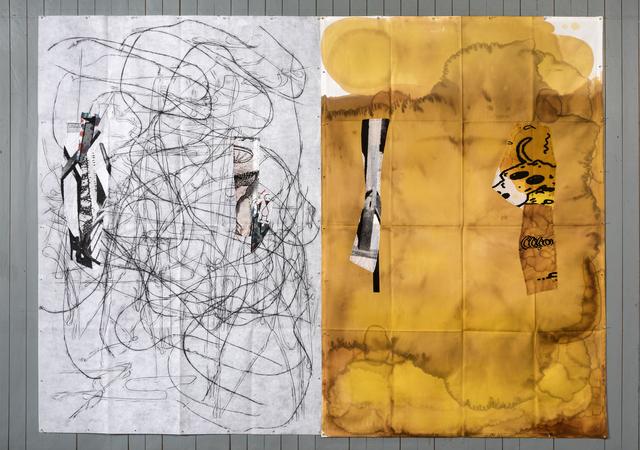 Eugenio Dittborn, 'Yellowblack, Airmail Painting No. 187', 2017, Alexander and Bonin