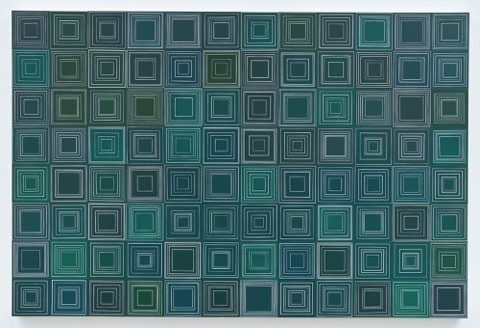 Yong Sin, 'Square No. 513', 2013, Painting, Acrylic on paper over panel, Timothy Yarger Fine Art
