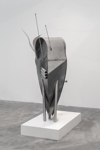 Caroline Mesquita, 'Spaceship fish', 2017, Sculpture, Steel, stainless steel, resin, car paint, carlier   gebauer