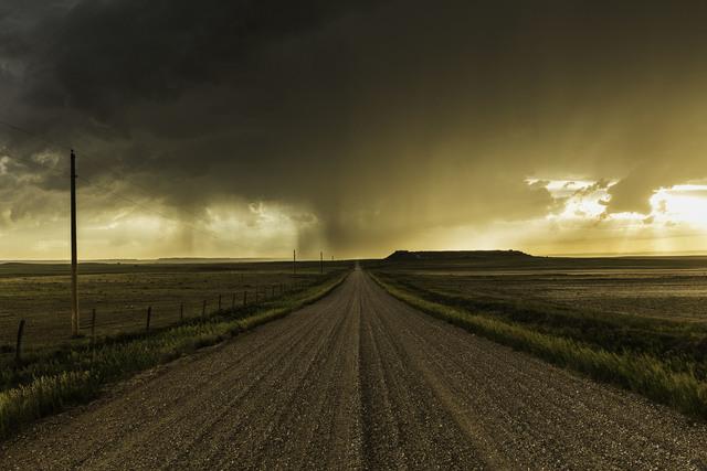 , 'Rainstorm Over Gravel Road, Wyoming,' 2013, Bernarducci Meisel Gallery