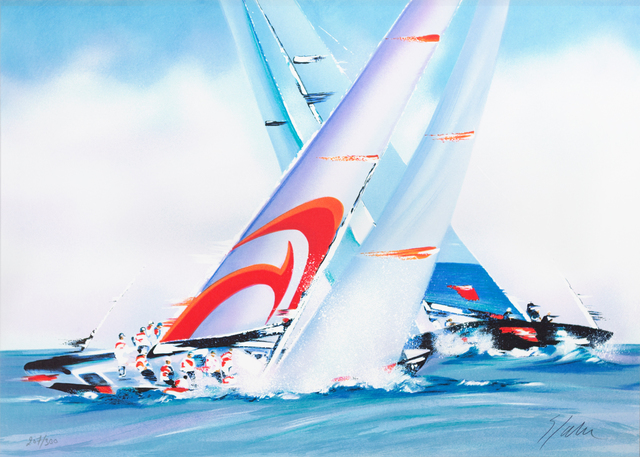 Victor Spahn, 'America's Cup - Alinghi', 2007, Art Lithographies