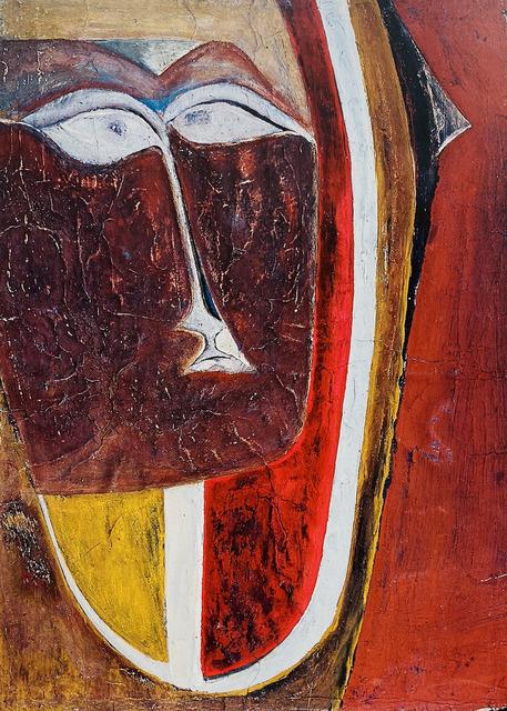 Marlen Spindler, 'Portrait', 1960, Drawing, Collage or other Work on Paper, Tempera on paper, Nadja Brykina Gallery