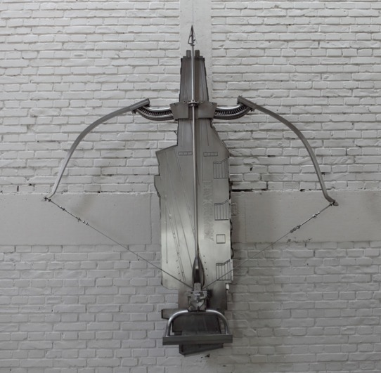 , 'Transforming Aircraft Carrier-Crossbow,' 2009, Arario Gallery