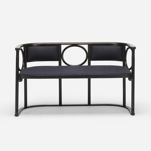 Josef Hoffmann, 'settee', c. 1908, Design/Decorative Art, Steam bent and lacquered beech, upholstery, Rago/Wright