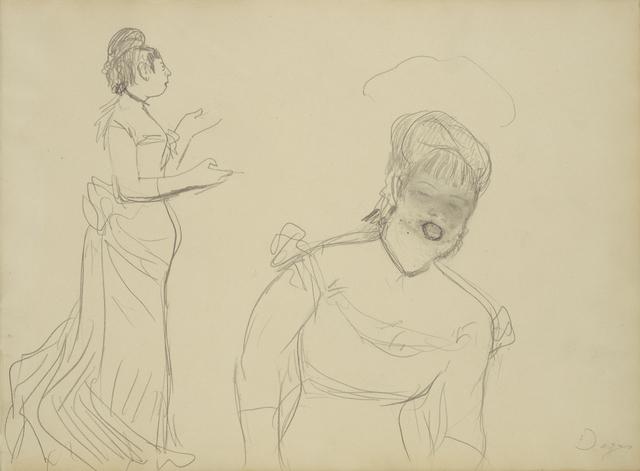 Edgar Degas, 'Sketches of a Caf' Singer', 1877, J. Paul Getty Museum