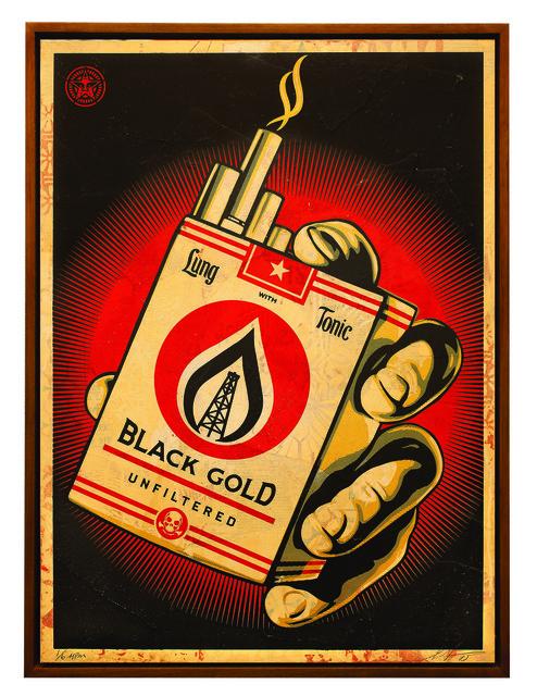 Shepard Fairey (OBEY), 'Black Gold', 2015, Underdogs Gallery