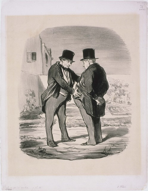 Honoré Daumier, 'Tout ce qu'on voudra: Nous avons donc volé le ballon de Mr. Green?', 1848, Print, Lithograph on paper, Phillips Collection