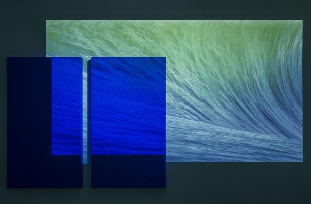 , 'I've caught Derek Jarman and Yves Klein looking at my desktop wallpaper,' 2015, The Gallery Apart