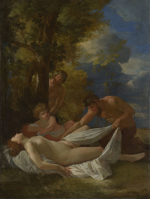 , 'Nymph with Satyrs ,' about 1627, The National Gallery, London