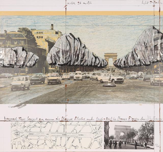 Christo and Jeanne-Claude, 'Wrapped Trees (Project for the Avenue des Champs-Elysées, Paris)', 1992, Galerie Boisseree