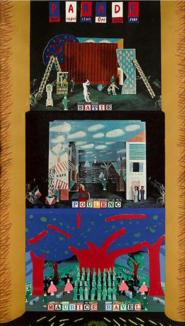 David Hockney, 'A french triple bill', 1982, Kunzt Gallery