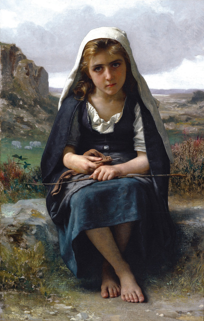, 'Gardeuse de moutons (The Shepherdess),' 1881, Frye Art Museum