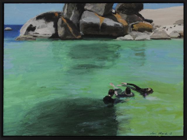 , 'Three bathers in emerald seawater  ,' 2018, 99 Loop Gallery