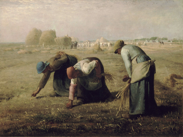 Jean-François Millet, 'The Gleaners', 1857, Painting, Oil on on canvas, Musée d'Orsay