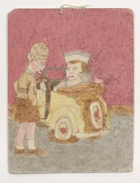 , 'Untitled (Girl driving yellow Beetle with boy, foreground),' n.d., Fleisher/Ollman
