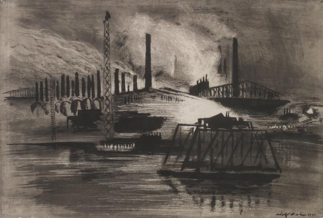 , 'Chicago Steel Mills,' 1930, Thomas French Fine Art