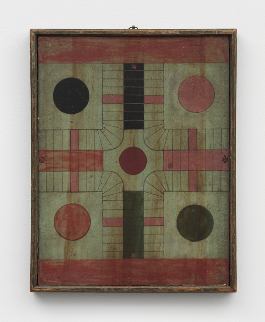 , 'Polychrome Double-Sided Parcheesi/Checkers Game Board,' Late 19th Century, Ricco/Maresca Gallery