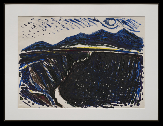 Lawrence Calcagno, 'Gorge Taos', 1975, Drawing, Collage or other Work on Paper, Acrylic on paper, 203 Fine Art