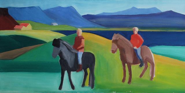 , 'Two Riders,' ca. 1990, Tibor de Nagy