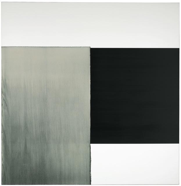 Callum Innes, 'Exposed Painting Charcoal Black, GoldGreen', 2000, Museo de Arte Contemporáneo de Buenos Aires