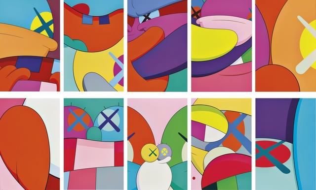 KAWS, 'No Reply (Complete portfolio of 10 screenprints)', 2015, Print, Screenprints in colors on paper, Zeit Contemporary Art