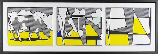 Roy Lichtenstein, 'Cow Triptych: Cow Going Abstract (set of 3)', 1982, Print, Screenprint in colors, Rago/Wright