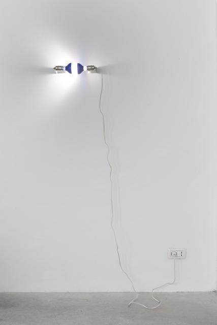 , 'Two Lights (daylight bulbs),' 2014, Galleria Franco Noero
