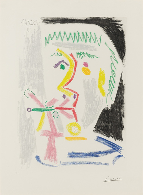 Pablo Picasso, 'Fumeur À La Cigarette Verte (B. 1168)', 1964, Doyle