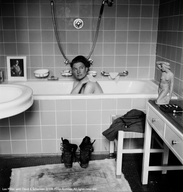 , 'Lee Miller by David Sherman in Munich Hitler's apartment,' 1945, °CLAIR Galerie