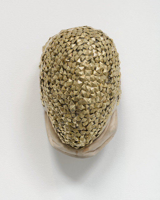 , 'Gold Fencing Mask,' 2019, Marianne Boesky Gallery