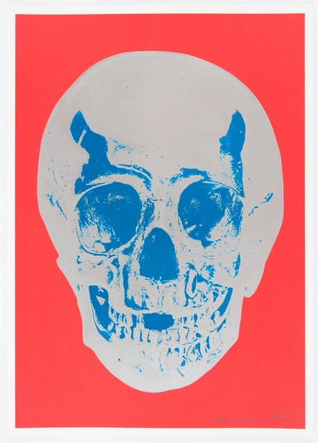 , 'Till Death Do Us Part - Coral Red Silver Gloss True Blue Skull,' 2012, Other Criteria