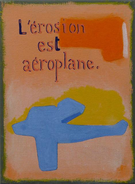 Jean-Michel Alberola, 'L'érosion est aéroplane', 2020, Painting, Oil on canvas, Galerie Maïa Muller