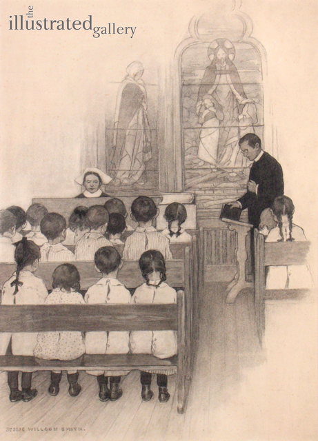 JESSIE WILLCOX SMITH, 'Chapel Grace Church Nursery', 1902, Drawing, Collage or other Work on Paper, Pencil on Paper Laid on Board, The Illustrated Gallery