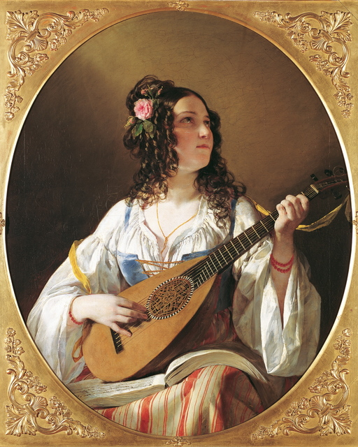 , 'The Lute Player,' 1838, Belvedere Museum