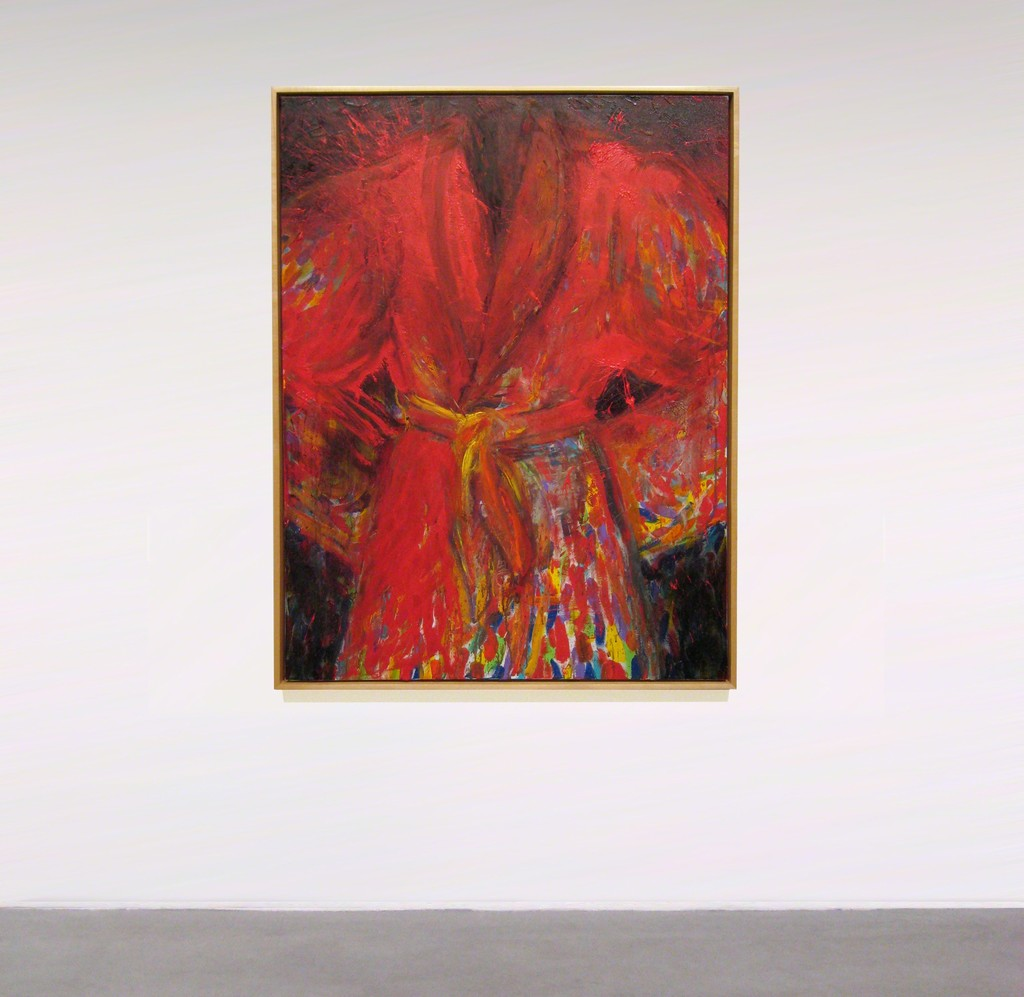Jim Dine Robe in the Oven painting in Icons by Legends Online at Joseph K. Levene Fine Art, Ltd.