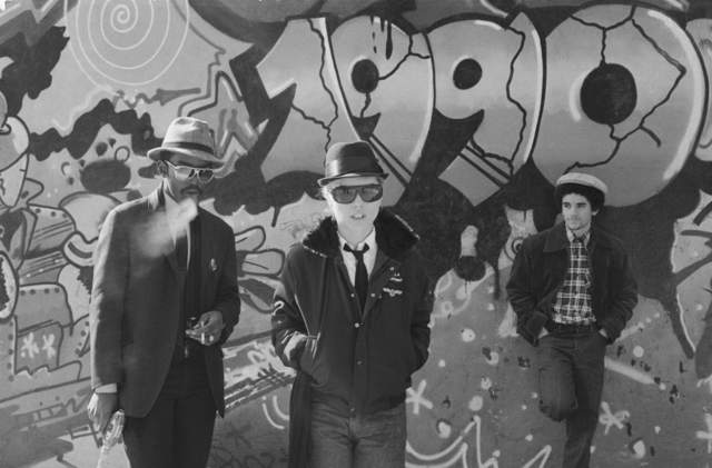 , 'Fab 5 Freddy, Debbie Harry and Lee Quinones, Handball Court at Pike & Cherry,' 1980, Wallplay