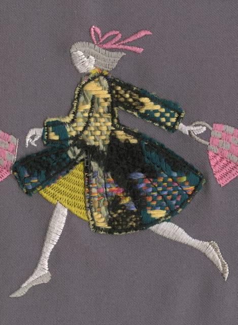 , 'Shopper on the Run (violet gray),' 2019, VI, VII