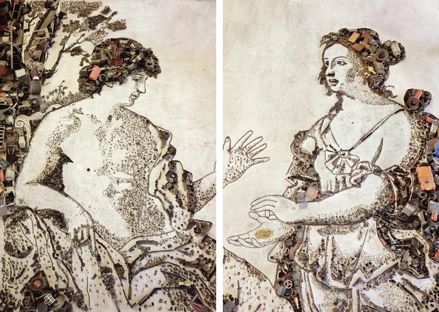 , 'Apollo and the Cumaean Sibyl, after Giovanni Domenico Cerrini - Diptych,' 2007, Gary Tatintsian Gallery