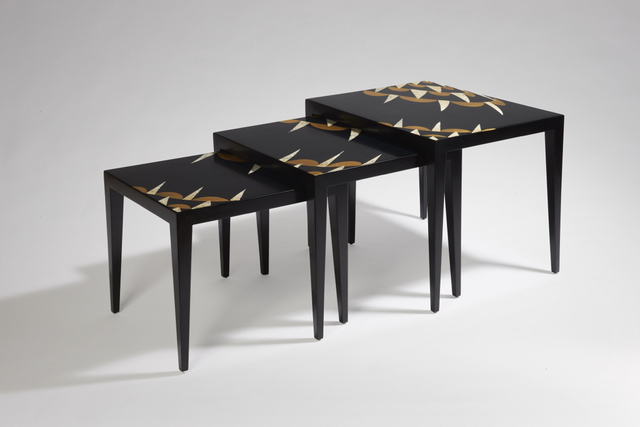 , 'Set of three nesting tables,' 1925, Galerie Marcilhac