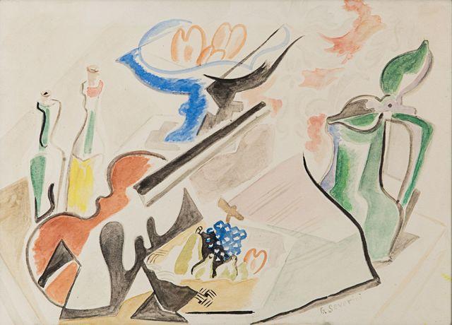 , 'Studio per natura morta con violino,' 1946, Rosenberg & Co.