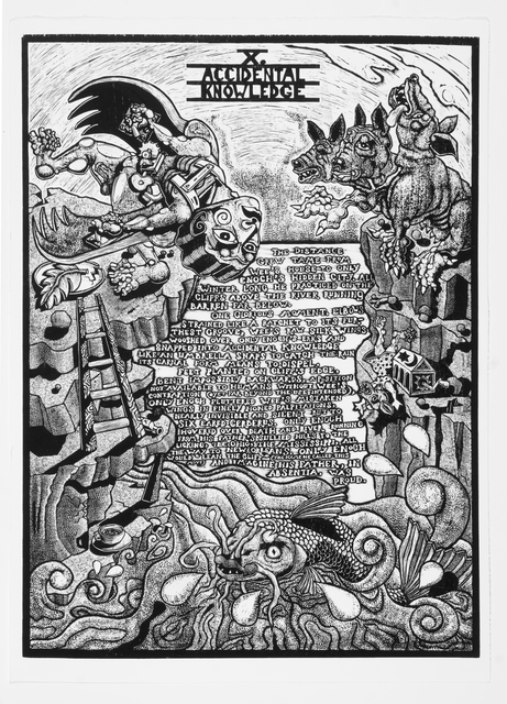 , 'X. Accidental Knowledge             The Book of Only Enoch, 2011-2014 A portfolio of 20 woodcuts drawn and cut by Jay Bolotin over a 4 year period,' 2011-2014, Carl Solway Gallery