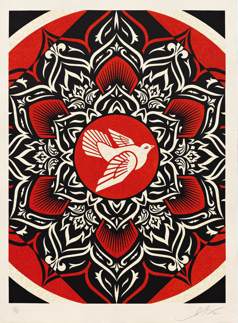 Shepard Fairey (OBEY), 'Lotus Target Red', 2012, Toshkova Fine Art Advisory