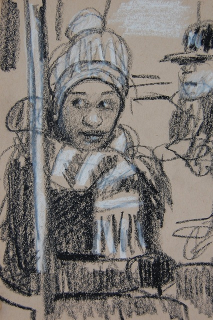 , 'Winter Scarf and Hat and Sidelong Glance,' 2017, Ground Floor Gallery