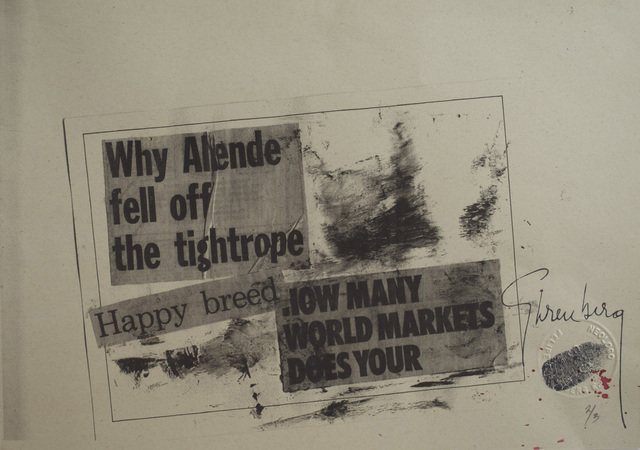 Felipe Ehrenberg, 'Why Allende fell off the tightrope…micropoema neográfico,' 1972, Galeria Enrique Guerrero